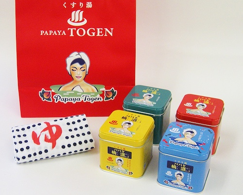 Papaya Togen Bath Salts Special Set (Pack of 4)