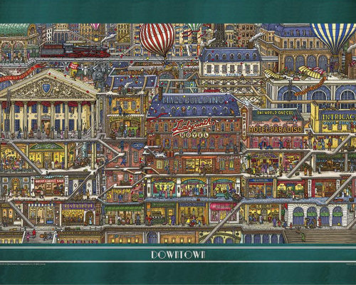 Pierre the Maze Detective Tall Buildings Jigsaw Puzzle