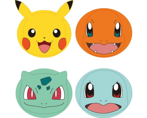 Pokemon Face Packs (Pack of Four)