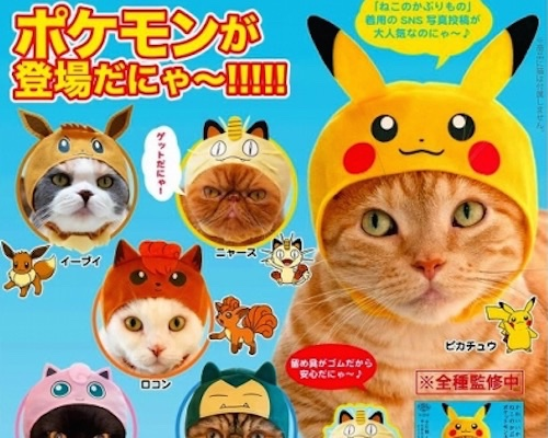 Pokemon Cat Cosplay Hats