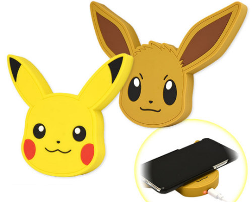 Pokemon Pikachu and Eevee Wireless Chargers