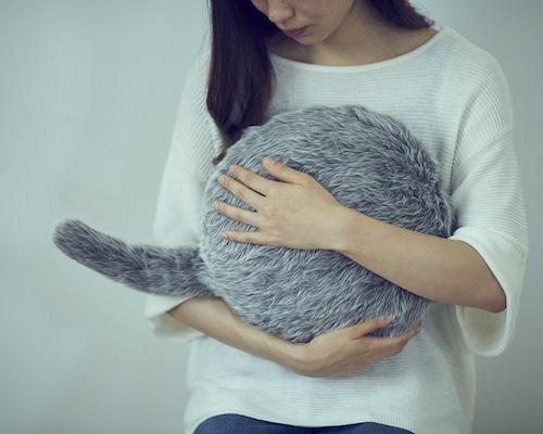 Qoobo Robotic Cat Tail Pillow Japan Trend Shop