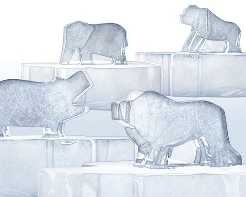 Savannah Ice Endangered Animal Molds
