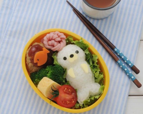 Seal Onigiri and Bento Lunchbox Art Set