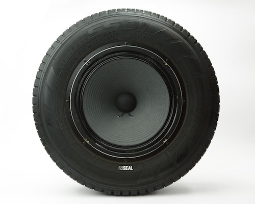 Japan Trend Shop Seal Recycled Tires Speaker