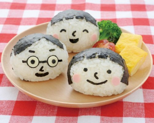 Smiling Face Onigiri and Bento Lunchbox Art Set