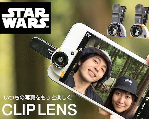 Star Wars BB-8 R2-D2 Wide-angle Lens Phone Camera Clip
