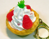 Strawberry Tart Keyholder with Rhinestones