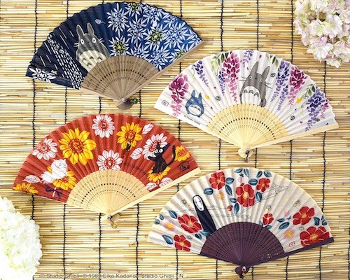 Studio Ghibli Illustrated Folding Fans