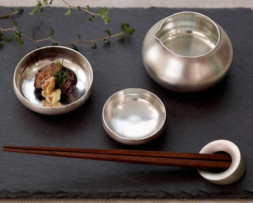suiu Stacking Tinware Sake Sets