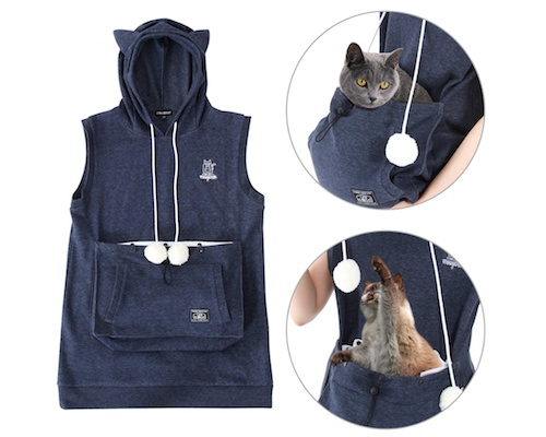 Summer Mewgaroo Hoodie with Pet Pouch