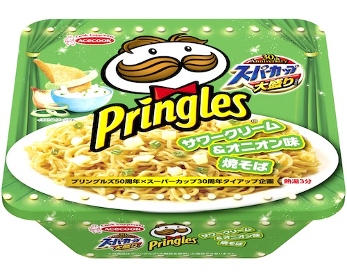 Pringles Sour Cream and Onion Flavor Instant Noodles (12 Pack)