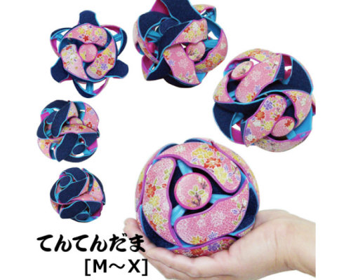 Ten-Ten Dama Flower Pattern Crepe Balls