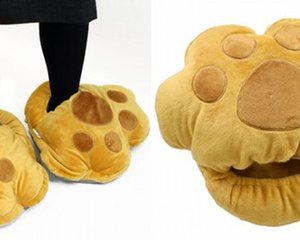 USB Dinosaur Foot Heated Warmer Slippers