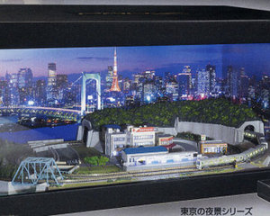 Tokyo Night View JR Yamanote Train Model