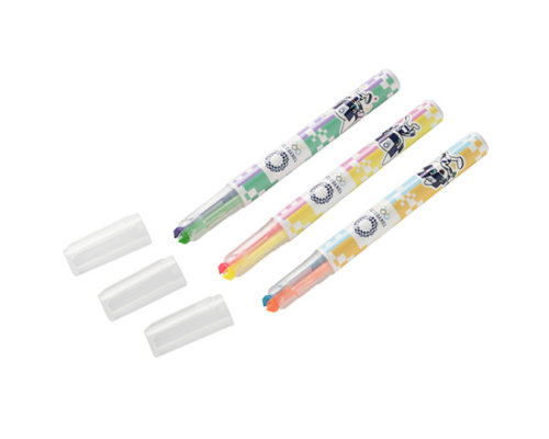 Tokyo 2020 Olympics Double-Color Fluorescent Marker Set (3 Pack)