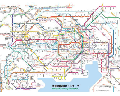 Tokyo Train Network Jigsaw Puzzle