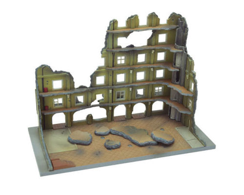 Tomytec Diocolle Combat Series Diorama DCM04 Destroyed Hotel