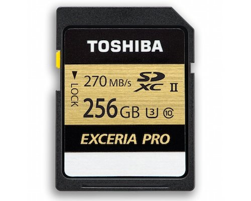 Toshiba Exceria Pro SDXC Memory Card 270MB/s for 4K Video Files