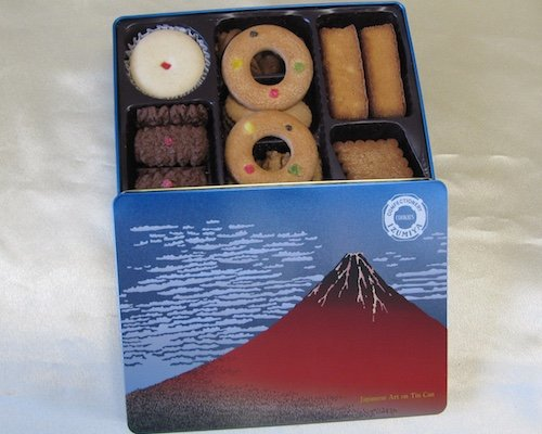 Ukiyoe Akafuji Red Mt Fuji Cookie Set