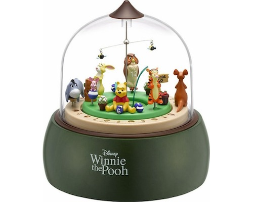 Winnie the Pooh Musical Diorama Clock from Japan