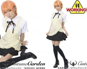 Working!! Anime Wagnaria Waitress Costume