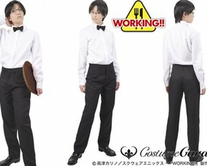 Working!! Anime Wagnaria Waiter Costume