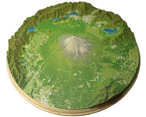 Yamatsumi Mount Fuji and Five Lakes Realistic Papercraft Model