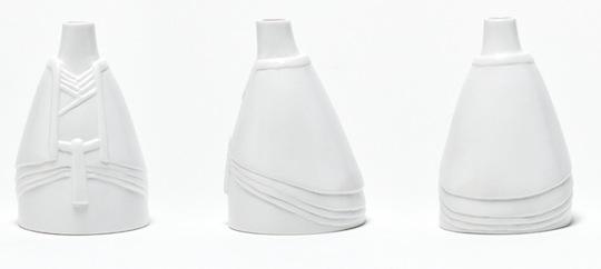Tono Hime Shinto Bride & Groom Vases