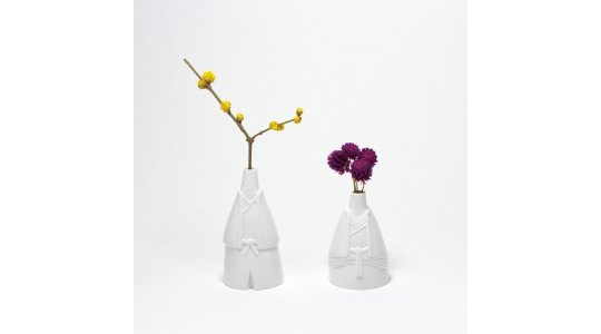 Tono Hime Shinto Bride & Groom Vases