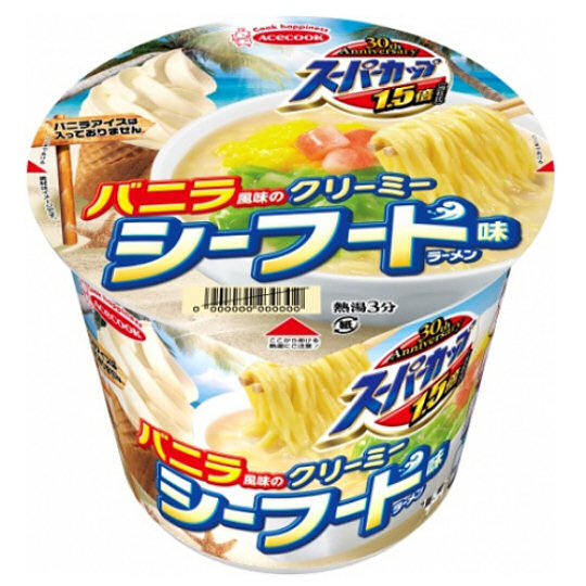 Vanilla-flavor Creamy Seafood Instant Ramen (12 Pack)