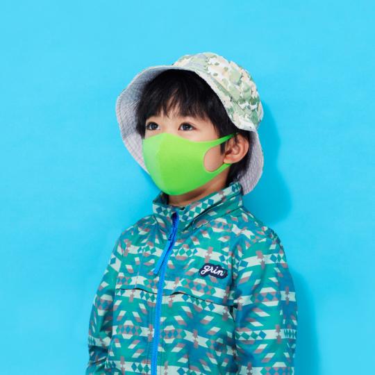 Pitta Designer Face Masks for Kids (Blue, Gray, Yellow-Green)