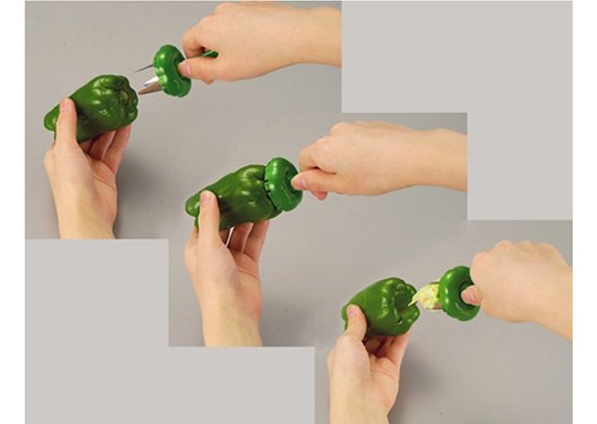Bell Pepper Corer Set