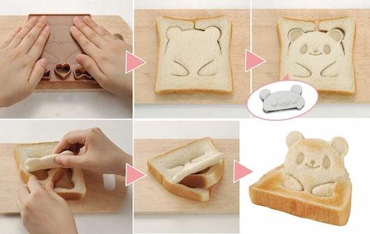 Pan de Pop Up Animal Face Bread Cutter Molds