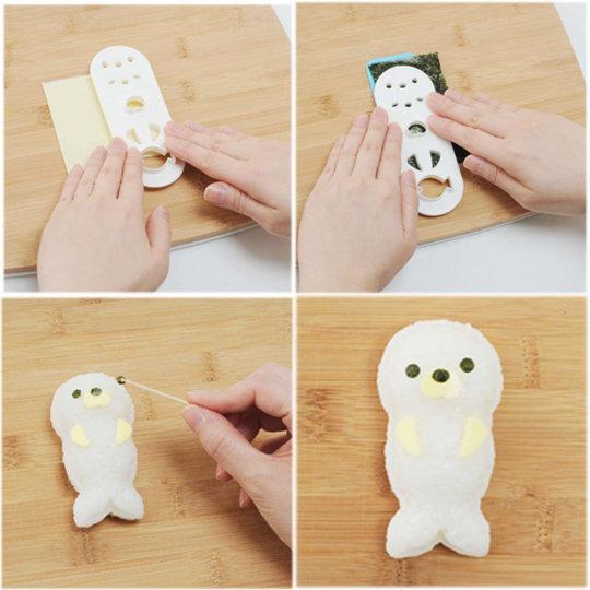 Seal Onigiri and Bento Lunchbox Art Set