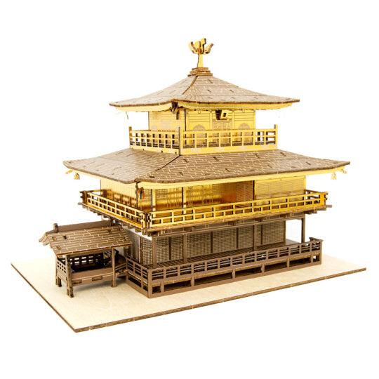 Ki-Gu-Mi Kinkakuji Golden Pavilion Wooden Color Model