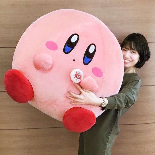 Giant Kirby Plush Toy and Manju Cake Set