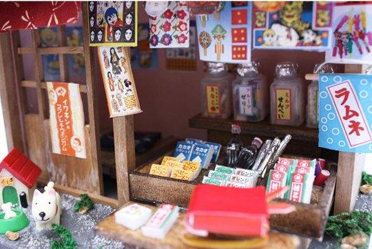 Showa Era Dagashi Sweet Store Model