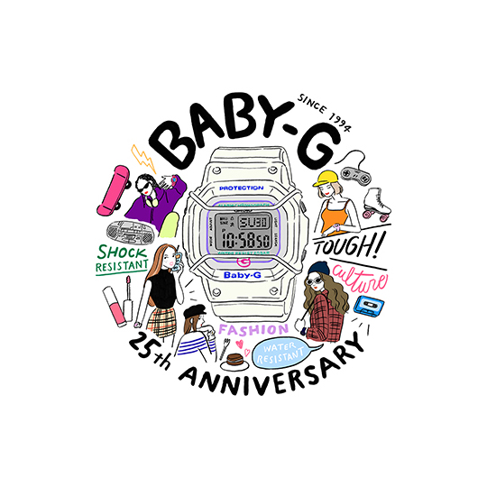 Casio Baby-G BGD-525 25th Anniversary Edition Watch
