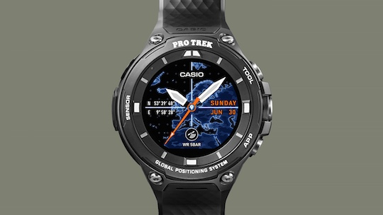 Casio Outdoor GPS Watch WSD-F20