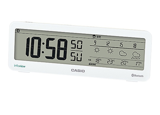 Casio Weather Notification Bluetooth Clock