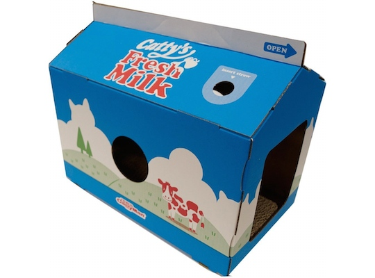 Cat Milk Carton Scratch Box
