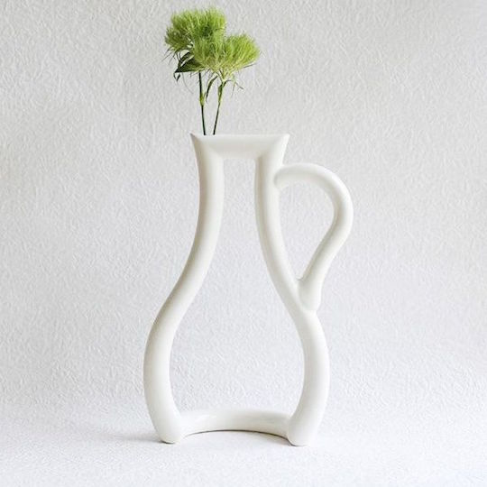 Ceramic Japan Single Flower Vase Bottle Frame Design