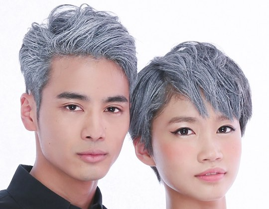 Japan Trend Shop Color Fox Wax Silver Hair Dye