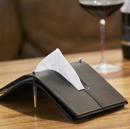 Aludo Kip Leather Tissue Holder