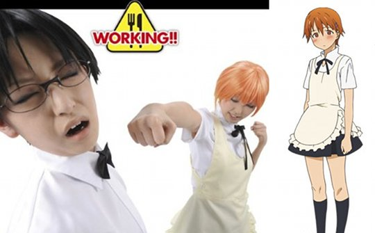 The Working!! Anime Wagnaria Waitress Costume features: