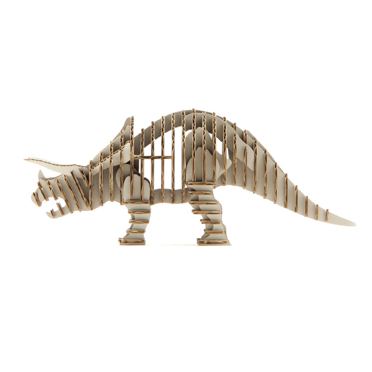 d-torso Triceratops Paper Craft Model
