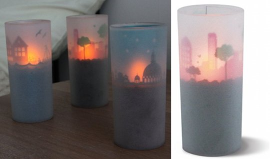 Cuore Graphio Cityscape LED Candle