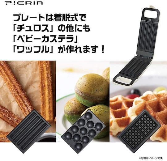 Pieria Churro Maker (with Waffle and Mini Castella Plates)