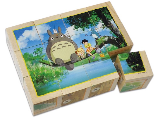 My Neighbor Totoro Wood Cube Puzzle